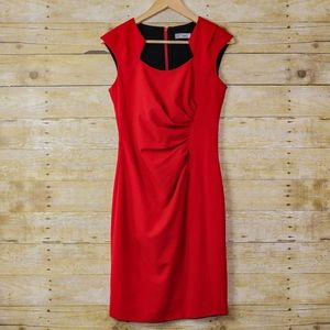 Clavin Klein Red Cocktail Dress